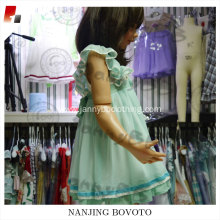 Wholesale chiffon fabric embroidery girls dress