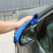 100% polyester plain dyed microfiber car towel
