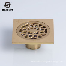 simple square brass shower drain cover plate