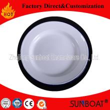 Enamel Shallow Plate Kithcenware Dinner Dish