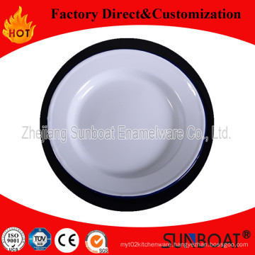 Sunboat Tableware Dinnerware Kitchenware/ Kitchen Appliance Enamel Pie Dish Enamel Plate/ Rice Plate