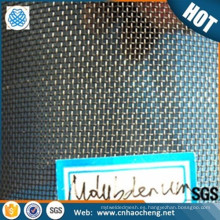 Pantalla de malla de tungsteno con malla de 0.05mp para el tratamiento térmico que soporta la malla de alambre.