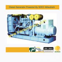 Gerador diesel em espera Mitsubishi 1600KW / 2000KVA