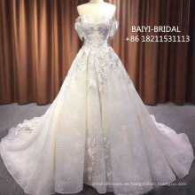 Ivory A Line vestido de novia con forro nude corsé de encaje blusa falda de tul Beach Simple elegantes vestidos de novia 2018