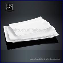 Küche heißes Design Keramikplatte Abendessen Ware Rectangle Platte