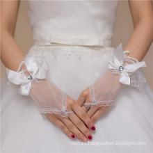 Fingerless encajes de encaje guantes de encaje de encaje decoración de encaje de alta calidad bowknot