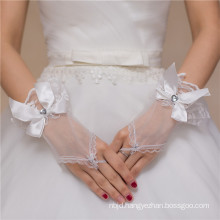 Fingerless lace appliques bowknot high quality lace decoration wedding lace glove