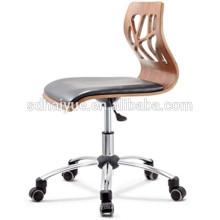 2017 Alta calidad tallar silla de ocio de madera contrachapada con patas de madera maciza