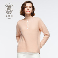 Pullover donna in cashmere con collo tondo