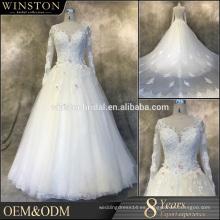 Nuevo vestido de la recepción de la novia de la manera del envío de la venta al por mayor del producto