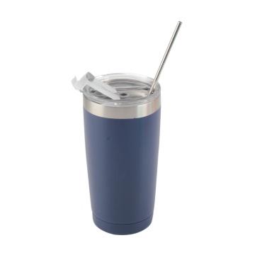 Travel Coffee Mug with Straw
