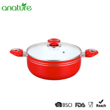 Multi-size Pressed White Ceramic Coating Casserole