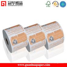 Papier de réception thermique imprimé ISO imprimé, 50 rouleaux