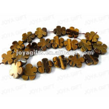 flower Shaped tigereye beads