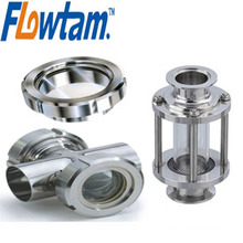 DIN sanitary stainless steel welded cross sight glass