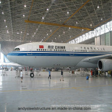 Estructura de acero Marco espacial para Hangar Warehouse