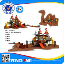 Terrain de jeux extérieur pour enfants en plastique de maternelle de 2014