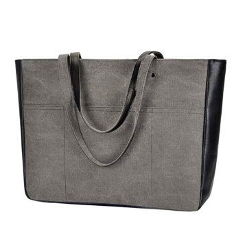 Large Space Ladies PU Leather Tote Hand Bag