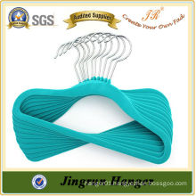 New Arrival Colourful Kids Hanger China Supply Flocked Hanger