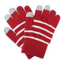 Леди мода полосой трикотажные теплые Сенсорный экран волшебные перчатки (YKY5464)