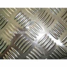 placa de piso de alumínio de cinco barras