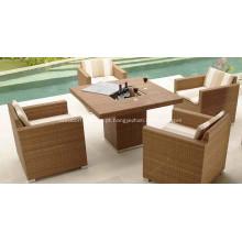 Conjunto de design de sala de jantar ao ar livre mobiliário moderno