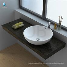 Precio de fregadero de baño de piedra de resina acrílica de mesa