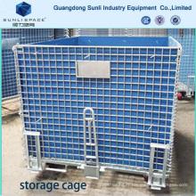 Cage de stockage de palette de boîte de maille d'entrepôt logistique