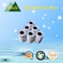 Papel de impresión impreso térmico de 57 * 45 mm Rolls para el anuncio
