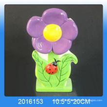 Un humidificateur d'air en céramique de conception de fleurs populaire pour la pièce