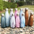 Botella de agua del coque del acero inoxidable aislado onda moderna simple