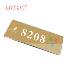 Hotel Electronic Touch Panel Doorbell Doorplate