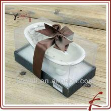 Presente de Natal de porcelana de cerâmica mini banheira sabonete prato Soap titular