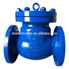 """DN100 4"""" Flange válvula anti-retorno, carcaça de aço de aço /Carbon / 150 LB"""