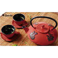 Cast Iron Enamel Teapot Set with cups