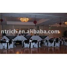 Cubiertas de la silla del banquete del hotel, cubierta de la silla del satén, marco de la silla del satén