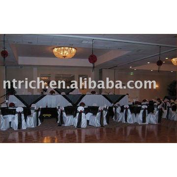 Hotel/Banquet chair covers, Satin chair cover,Satin chair sash