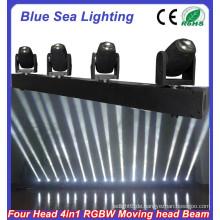 4pcs x 10W RGBW 4in1 führte Lichtstrahlen