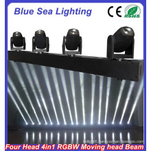 4pcs x 10W RGBW 4in1 led beam lights