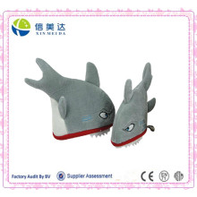 Shark engraçado Shaped Plush Party Hat