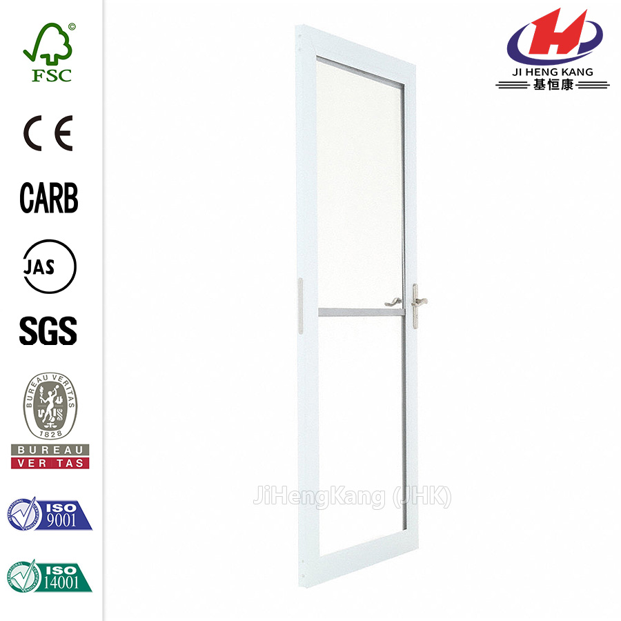 White Self-Storing TruScene Storm Door