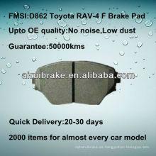 D862 semi-metálico Toyota RAV-4 pastilla de freno