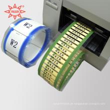 Mangas termorretráteis de fio branco imprimíveis por computador
