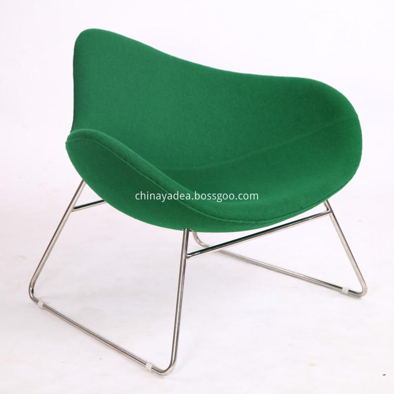 Wool Fabric K2 Sled Chair