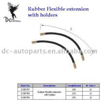 Extensión flexible de goma de la rueda