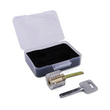 Núcleo de bloqueio de segurança transparente prática (chave semicírculo) para treinamento de serralheiro