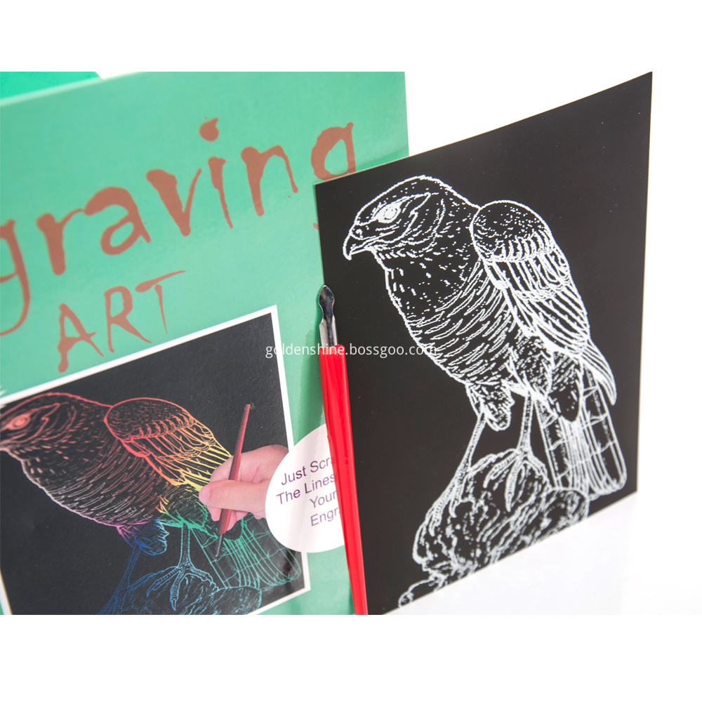 Rainbow Scratch Engraving Art