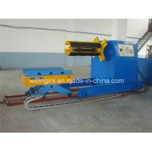 Desensiladora hidráulica automática de 10 toneladas con carro de bobina