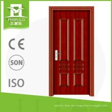 Standardmaße belüftete schmiedeeiserne Holzinnentür für den Großhandel