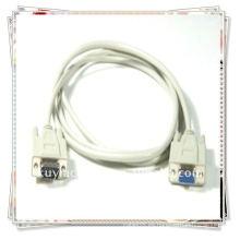 Premium VGA blanco macho a hembra cable de extensión de monitor de 15 pines